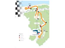 Kort over banen ved Munkebjerg Hillclimb 2015
