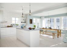 Restaurangkökskänsla i A-hus nya visningshus på Husknuten