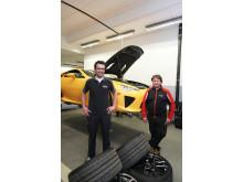 Thomas Kuka och Udo Fassbender jobbar normalt med rally- och racingbilar på Toyota Motorsport GmbH i tyska Köln
