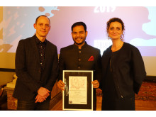 Jitendra Mishra, vinnare av Barnfondens komedipris 2019