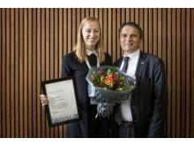Tandlægestuderende Jane Hejlesen og Tandlægeforeningens formand Freddie Sloth-Lisbjerg