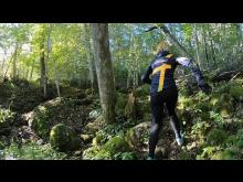 Traillöpning vid Silverfallet på Billingen