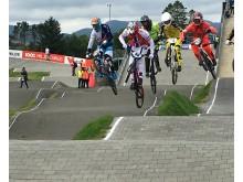 Tore Navrestad under EC BMX på Sviland