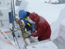 Ice core work during JASE-expediiton