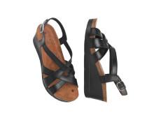 Sandalett på kilklack med magnetsula