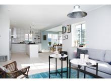 Öppen planlösning i A-hus nya villa Anneberg