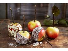 Glaserte epler med kokos og mandelflak