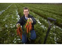 Ca. 40 procent af alt frugt og grønt i Lidls butikker er dansk, og Niels Ege Nielsen er et eksempel på, at Lidl satser på danske kvalitetsprodukter.