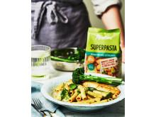 Superpasta Rigatoni med kokosmjölk, ingefära och lime