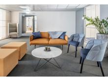 Dreem har tagit fram inredningskoncept för Wåhlins nya kontor på Östra Hamngatan. Sobert blandas med ljusare inslag.