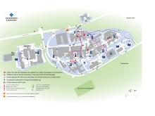 Orienteringkarta parkeringar och infarter Akademiska sjukhuset november 2018