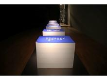 """Luthers Tintenklecks als Medienmythos von Dagmar Varady in der Ausstellung """"Gedanken Raum geben"""" im GRASSI Museum für Angewandte Kunst Leipzig"""
