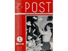 En ung Wenche Myhre frontet innføringen av postnummer i etatsorganet Post.