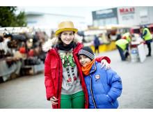 Julmarknad på Stora torget i Barkarbystaden