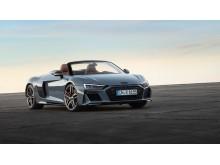 Audi R8 Spyder (Kemora gray metallic) statisk billede