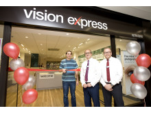 Gloucestershire man unveils newly refurbished optician after team made life-saving referral for tumour