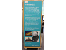 History board at Middleton Library