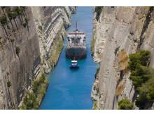 Korintkanalen i Hellas