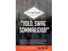 Affischerna för Sveriges yngsta reklambyrå.