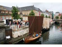 Vikingeskibe i Frederiksholms Kanal under vikingemarkedet
