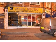 Damage to window at Spicy night takeaway