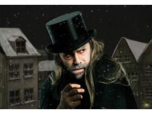 Casper Crump inkarnerer gamle Albert Fetisen i Frilandsmuseets udgave af  Et Juleeventyr
