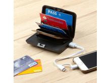 RFID Korthållare med powerbank