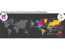 Utveckling av rättighetsköp för TV-sändningar från Paralympiska spel