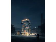 Förslag studentbostäder, KTH, Stockholm: ByggVesta och Utopia