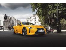 """Den oberoende organisationen UKCOTY utsåg helt nyligen Lexus LC till """"Årets bästa kupémodell""""."""