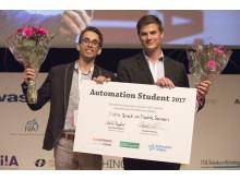 Chalmersstudenterna Niclas Busck och Fredrik Svensson vann årets upplaga av Automation Student med sitt examensarbete om monteringsinstruktioner.