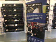Body worn video docking station at Islington