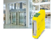 Säkerhetsrelä optimerat för hissar enligt EN 81-20