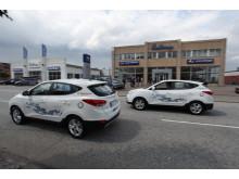 De första bränslecellsbilarna levererade från Hyundai