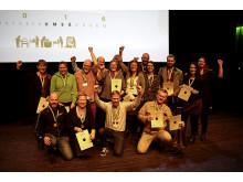 SM i Mathantverk 2016. Vinnare som var på plats och tog emot sina guldmedaljer på Vävenscenen i Umeå 8 oktober.