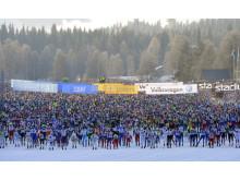 Starten av det 88:e Vasaloppet söndag 4 mars kl 08.00 i Berga by, Sälen.
