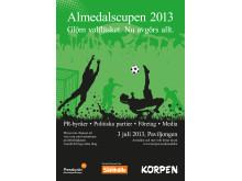 Dagens Samhälle och Korpen arrangerar Almedalscupen 2013 under Politikerveckan
