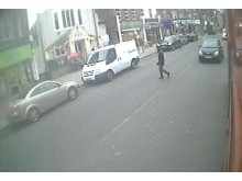 Tripp crossing the road before the attack