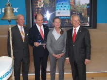 Lars Hellman, Ottonel Popesco, Leena Essén and Stefan Widegren of Cavotec at the NASDAQ OMX