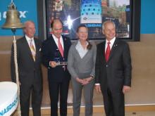 Lars Hellman, Ottonel Popesco, Leena Essén and Stefan Widegren of Cavotec at the NASDAQ OMX