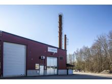 Solör Bioenergis fjärrvärmeanläggning i Lagan.