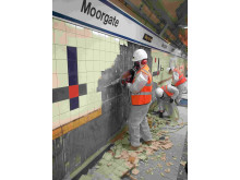 Tile stripping at Moorgate