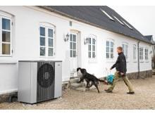Varmepumpen kan sagtens opvarme det ældre hus