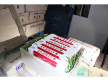Op Bypass - Cigarettes hidden in vegetable consignment LON14/15