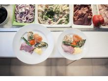 20 prosent mindre tallerkenstørrelse på buffet gir opptil 20 prosent mindre matavfall.
