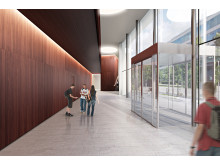 Skiss nya lokaler för polisutbildning i Flemingsberg (interiör)
