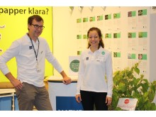 Ulf Larsson, biologist, and Anna Håkansson, lawyer, both from the Swedish Environmental Protection Agency, were busy answering questions at Elmia Garden about invasive plants and how to deal with banned plants.