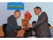Swesiaqs ordförande tar emot stora inneklimatpriset