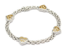 Moderna 16/1, Nr: 234, CHOPARD, armband, Happy diamonds, 18K vitguld