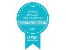 Telia har Sveriges nöjdaste företagskunder enligt SKI 2017